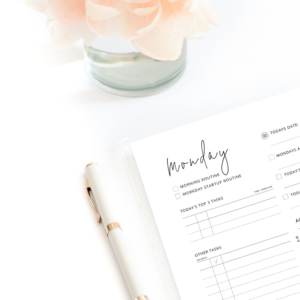daily planner printable mock up
