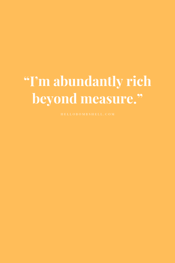Positive Money Affirmation Quote