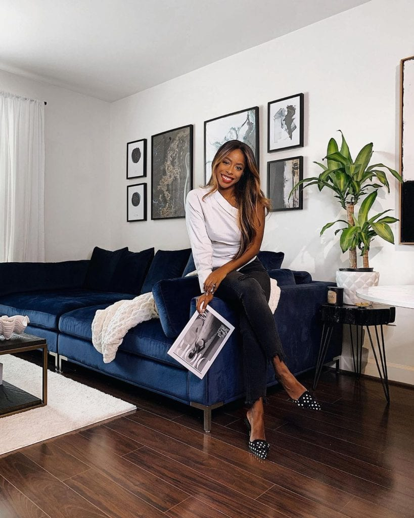 Classy woman in her elegant home.