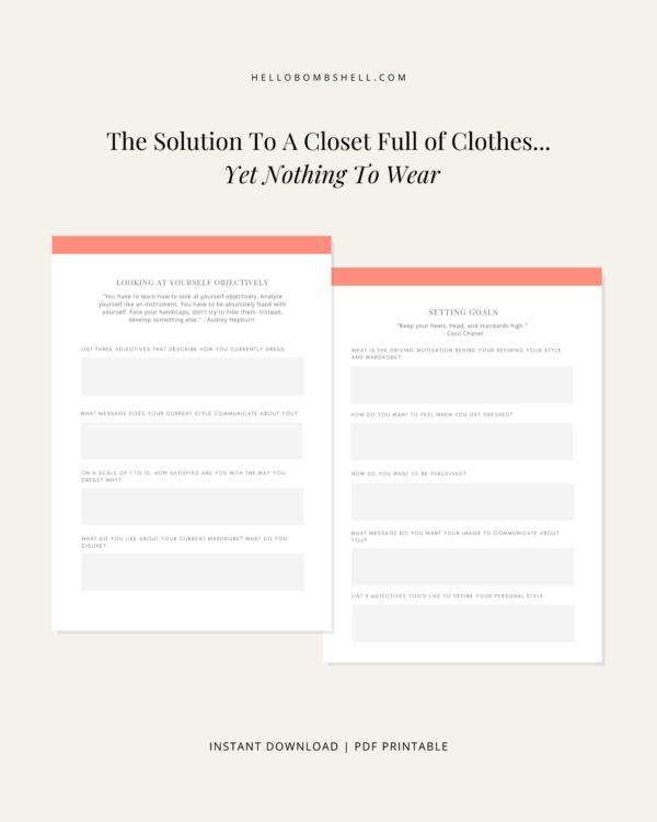 capsule wardrobe workbook