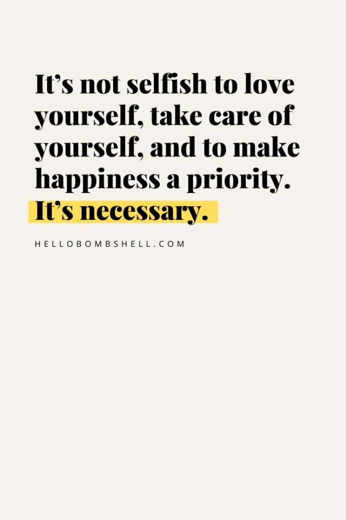 self care quote about self love for women