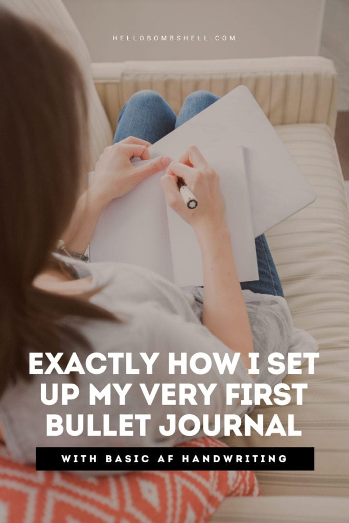 how to set up a bullet journal from scratch