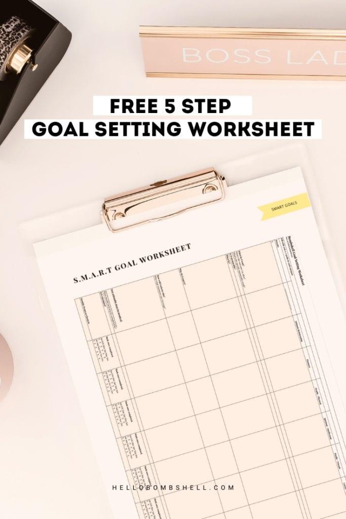 goal setting worksheet free template