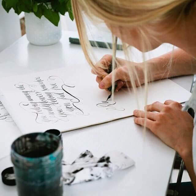 hobbies for women calligraphy