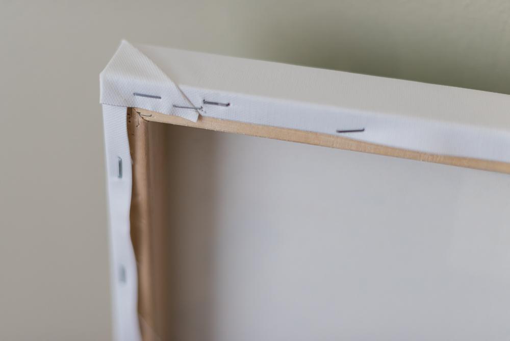 DIY canvas wrap staples