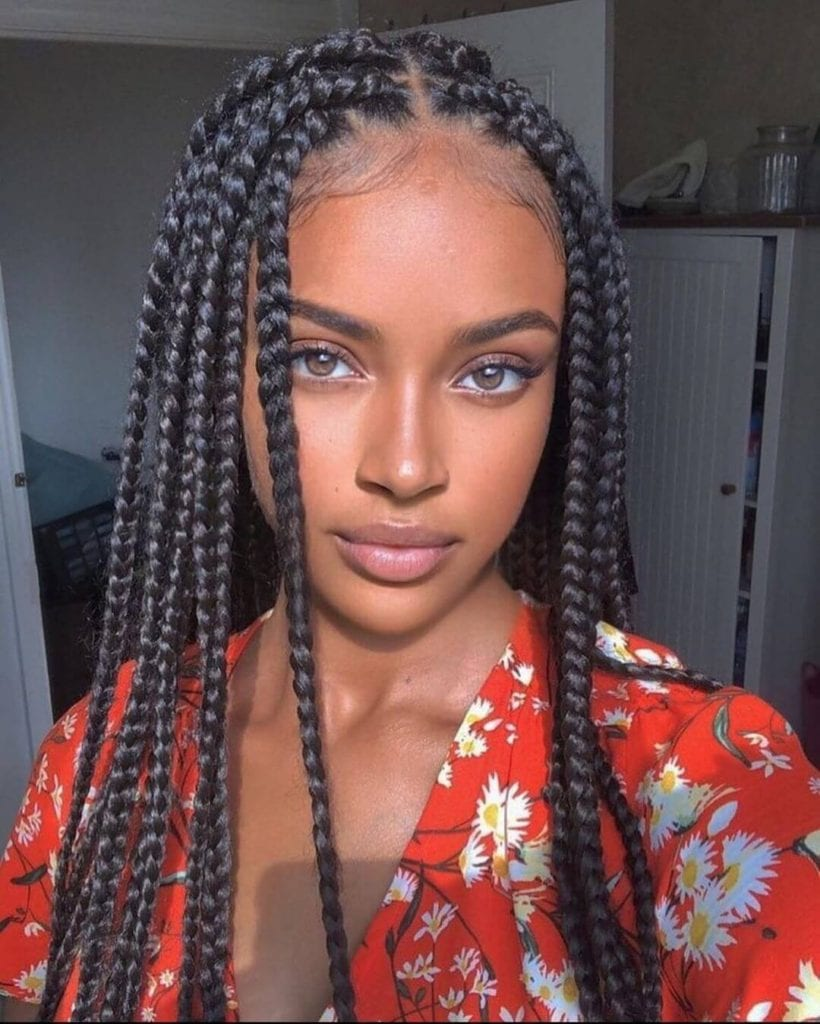 27+ Beautiful Box Braid Hairstyles For Black Women + Feed ...