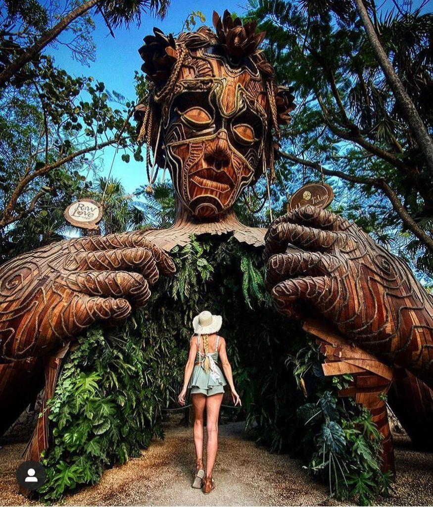best instagram spot tulum statue