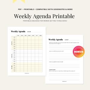weekly schedule printable