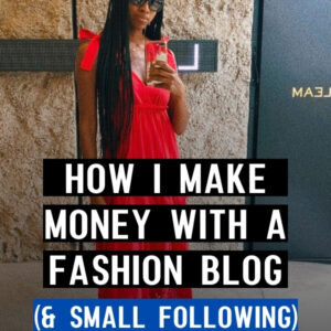 how to make money with a fashion blog